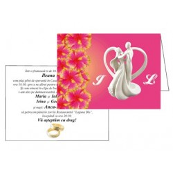 Invitatii de nunta personalizate INVN023