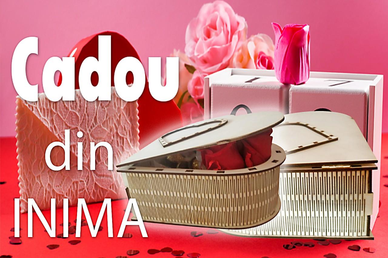 Cutie cadou personalizata INIMA